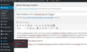 Kostenloses WordPress Plugin installieren